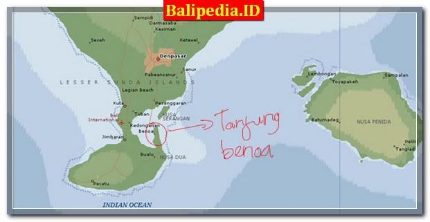 Peta Tanjung Benoa Bali