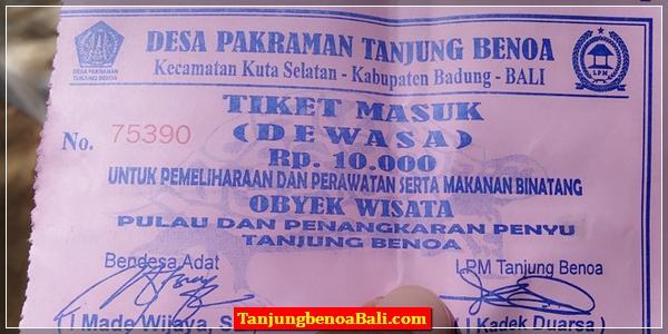 Tiket Masuk Pulau Penyu Bali
