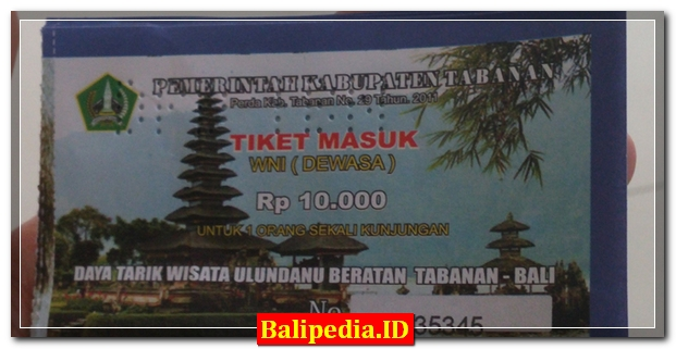 Harga Tiket Masuk objek wisata di Bali