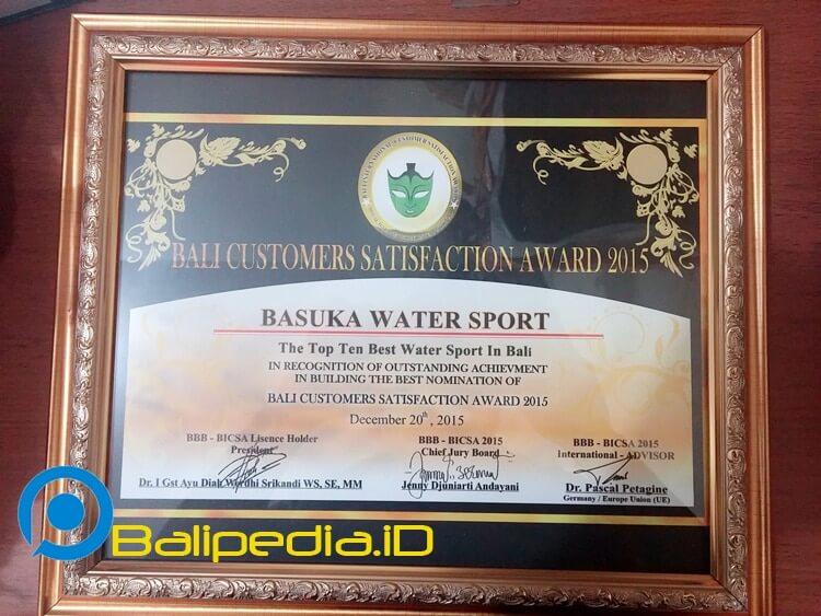 Bali Best Brand & BICSA 2015 watersport