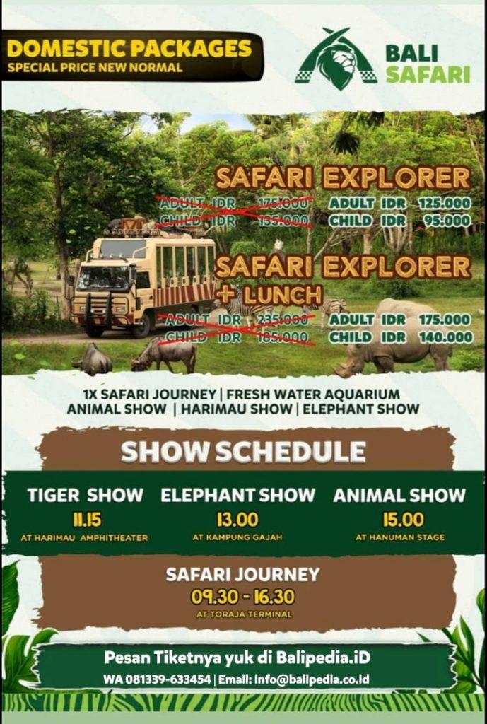 Harga Promo Bali Safari Domestik